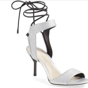3.1 Philip Lim silver  New Years up heel shoe 6.5